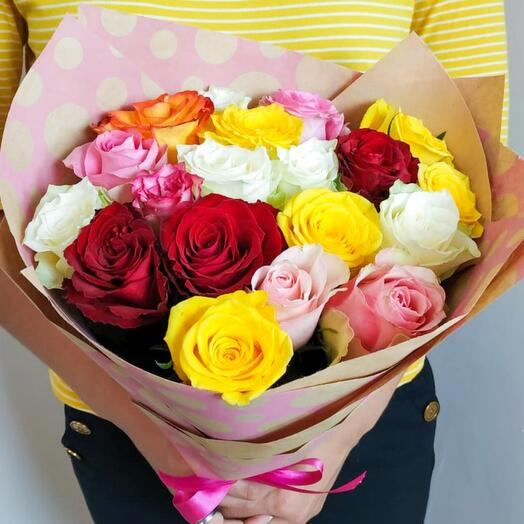Микс 19 роз