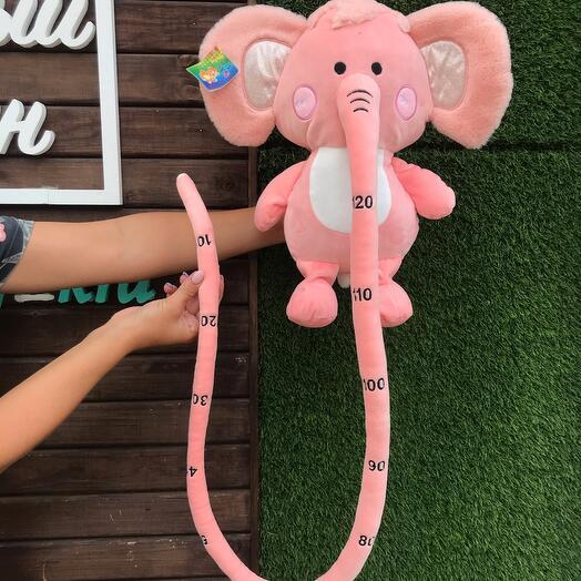 Слонёнок с хоботом 130 см