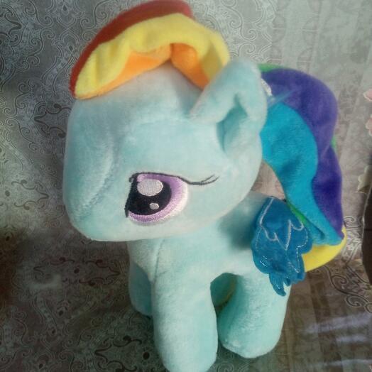 Пони голубая