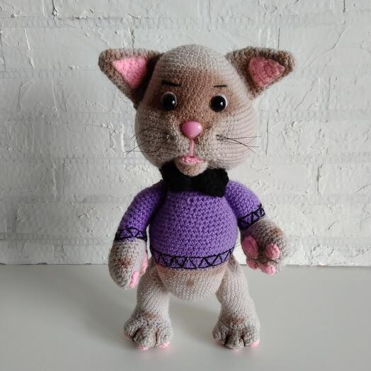 Вязанный кот Том