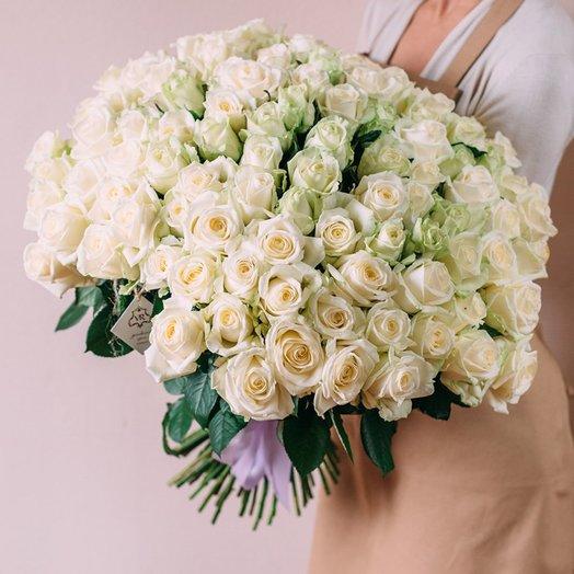 101 роза Аваланж: букеты цветов на заказ Flowwow