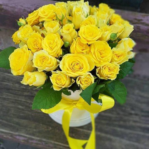 Коробочка Солнечная: букеты цветов на заказ Flowwow