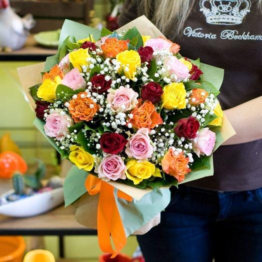 Букет цветов Чудесный день: букеты цветов на заказ Flowwow