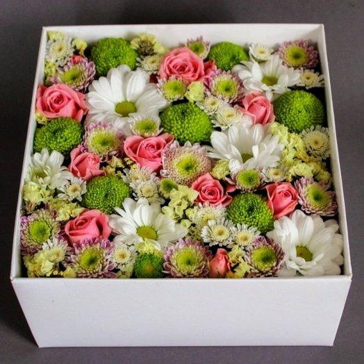 Мини-коробочка Цветочный микс: букеты цветов на заказ Flowwow