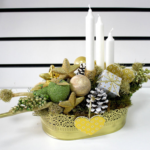 Золотая композиция: букеты цветов на заказ Flowwow