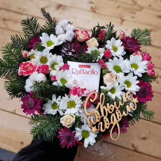 Новогодняя сладость: букеты цветов на заказ Flowwow