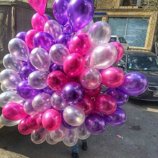 70 воздушных шаров металлик: букеты цветов на заказ Flowwow