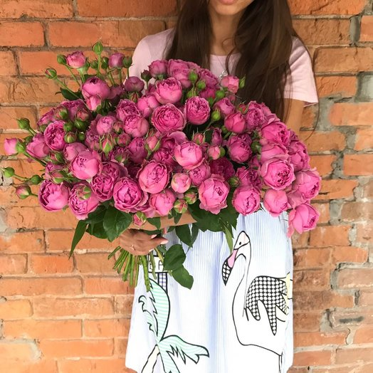 Розовый веер : букеты цветов на заказ Flowwow