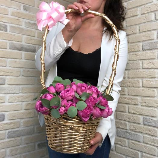Золотая корзина: букеты цветов на заказ Flowwow