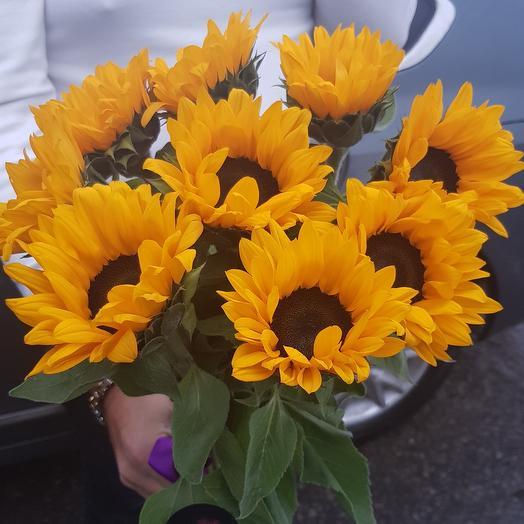 Букет из подсолнухов: букеты цветов на заказ Flowwow