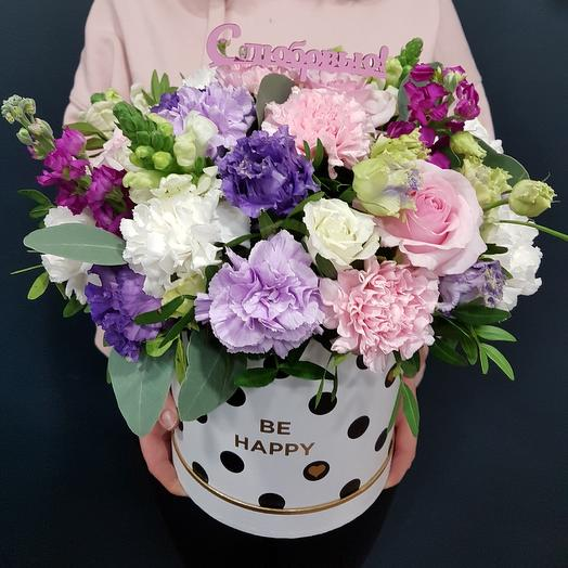 Воздушная коробка: букеты цветов на заказ Flowwow