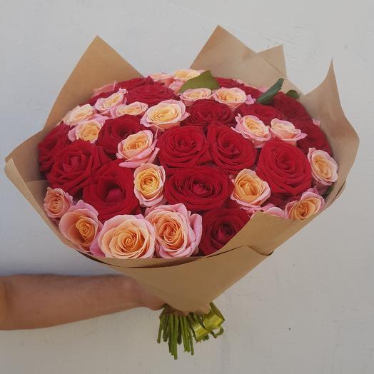 Букет из роз. 51 роза: букеты цветов на заказ Flowwow