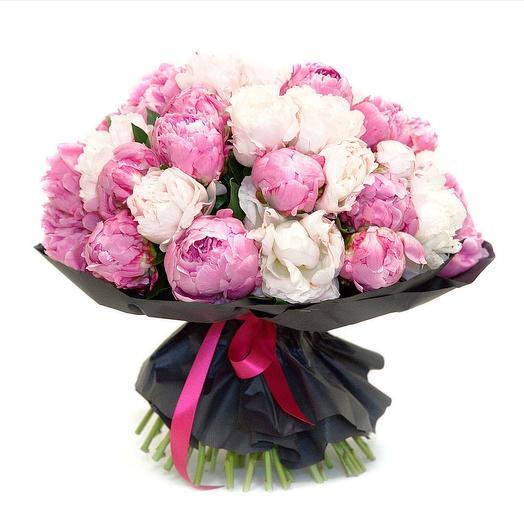Монобукет из пионов: букеты цветов на заказ Flowwow