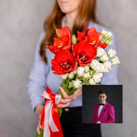 Особенный букет с особенной доставкой: букеты цветов на заказ Flowwow