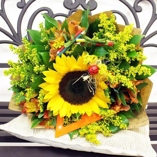 Букет С днём знаний 3: букеты цветов на заказ Flowwow