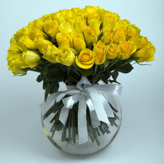 101 элитная эквадорская роза Брайтон: букеты цветов на заказ Flowwow