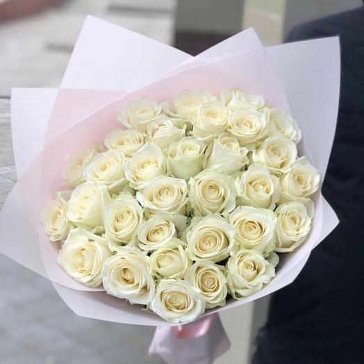 Роза Эквадор белая: букеты цветов на заказ Flowwow