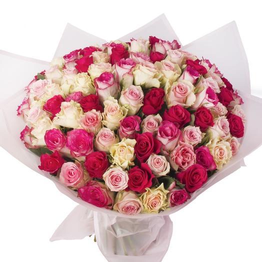 101 роза Нежность