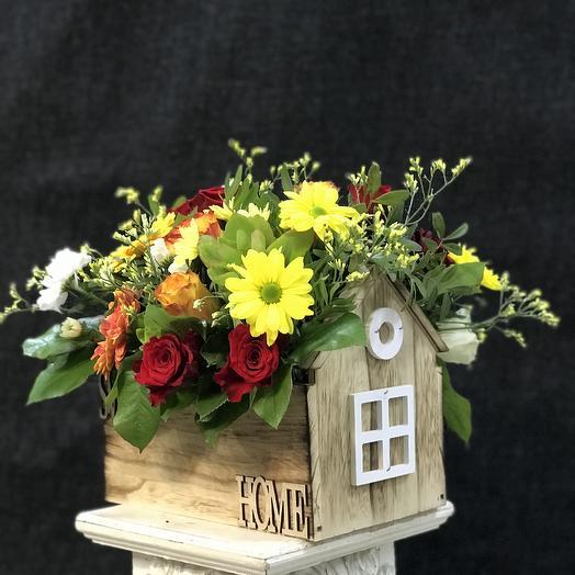 Дом счастья и радости. Супер цена🌹: букеты цветов на заказ Flowwow