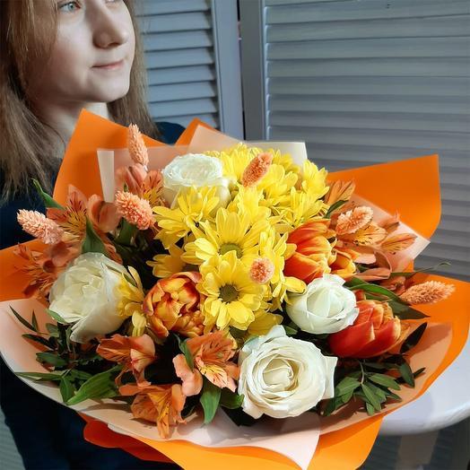 Хорошего настроения: букеты цветов на заказ Flowwow