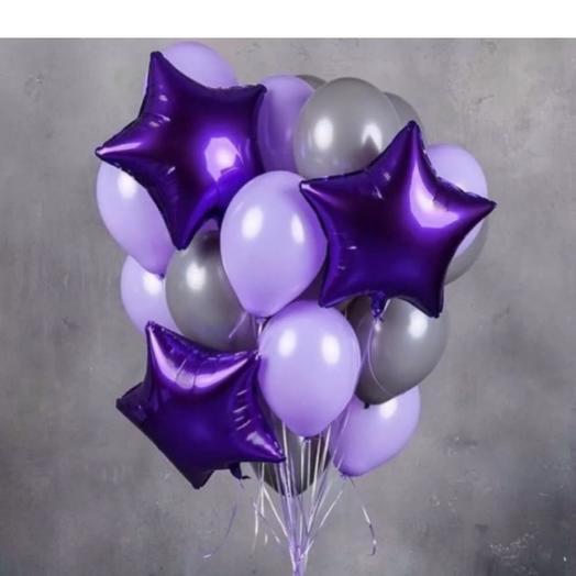 Фонтан из шаров,,сирень ': букеты цветов на заказ Flowwow
