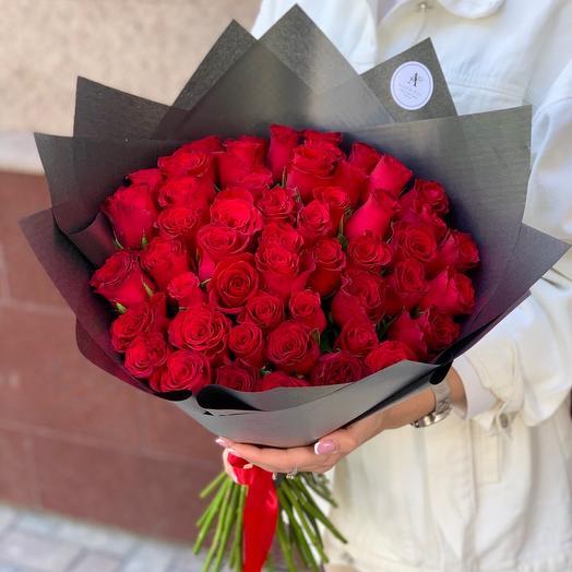 Bouquet of 51 Kenyan roses