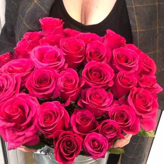 21 крупная ароматная роза 80 см