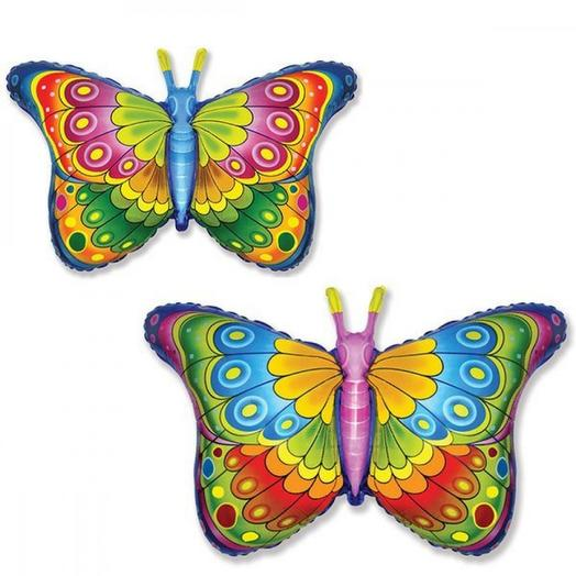 Шар бабочка радужная 56см на 97см