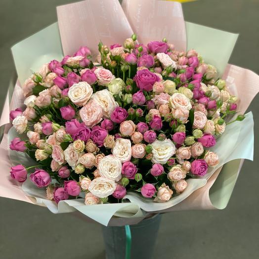 Букет 75 кустовых роз