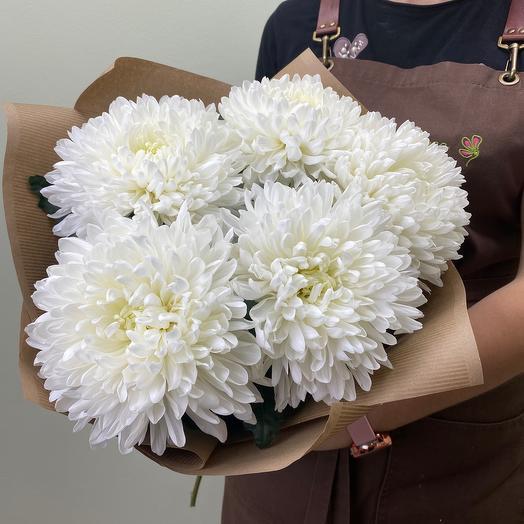 Букет из 5 одноголовых хризантем