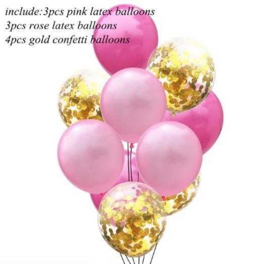 Цветные латексные шары воздушные шары с конфетти 8