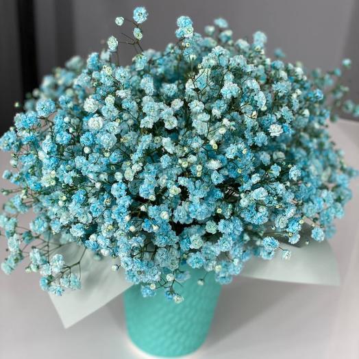 Голубая Цветочная вата