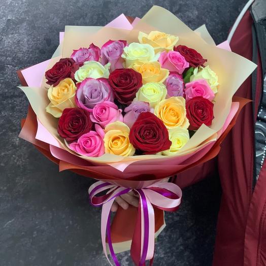 Конфетти из 25 роз