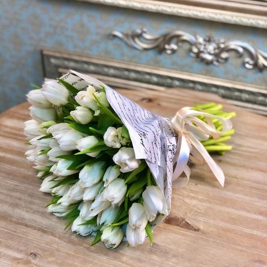 Тюльпан белый 49