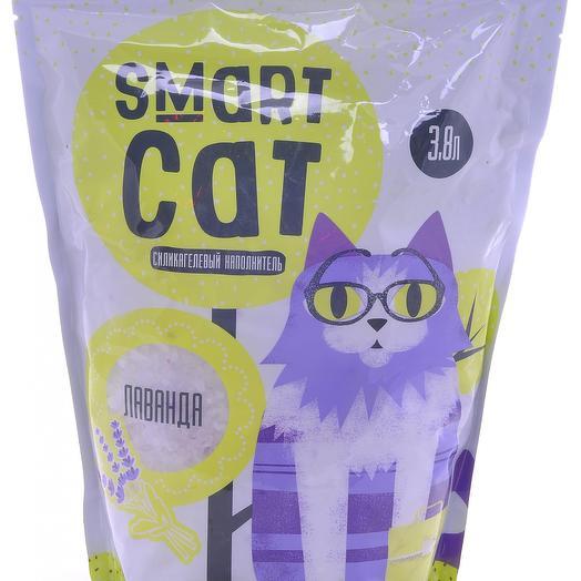 Smart Cat наполнитель силикагелевый с ароматом лаванды 3,8 л