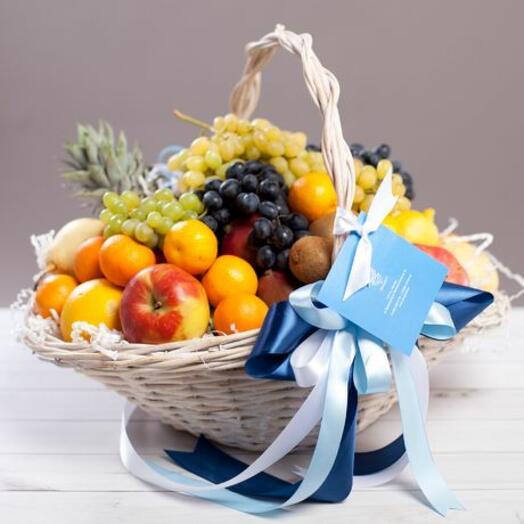 """Корзина со свежими фруктами """"Тропикана"""""""