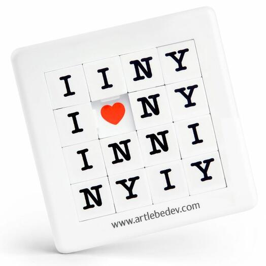Игра - пазл Пятнашки I love NY