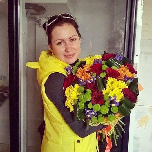 Букет Осенний хоровод: букеты цветов на заказ Flowwow