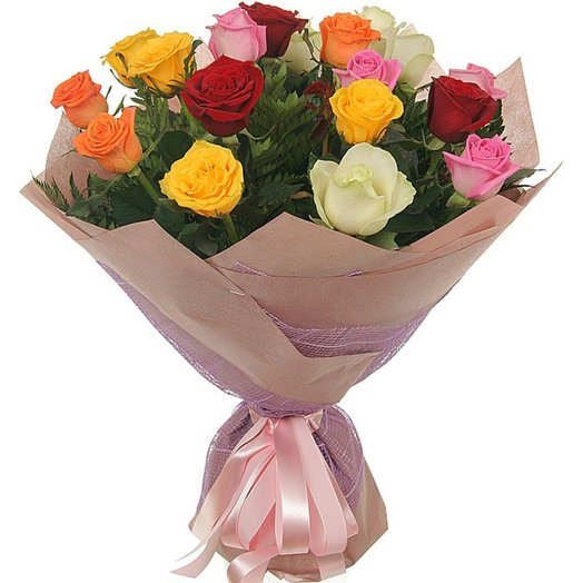 Multi colored roses: flowers to order Flowwow