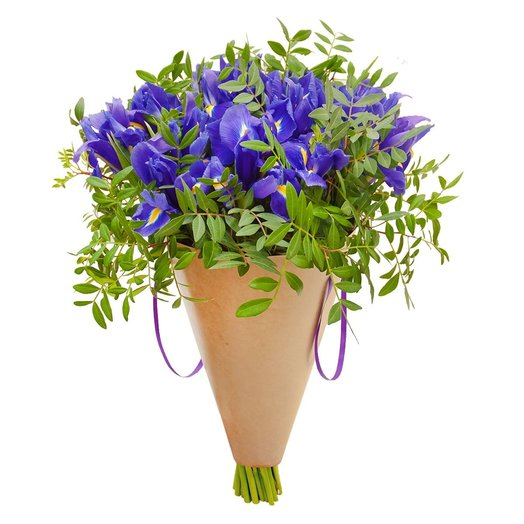 Букет из ирисов Синие дали: букеты цветов на заказ Flowwow