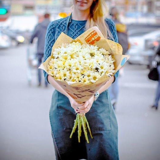 Букет белых хризантем 7 шт: букеты цветов на заказ Flowwow