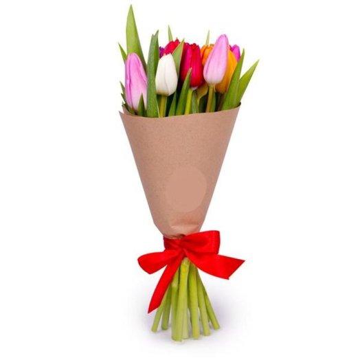 """Букет из тюльпанов """"Весенний привет"""": букеты цветов на заказ Flowwow"""