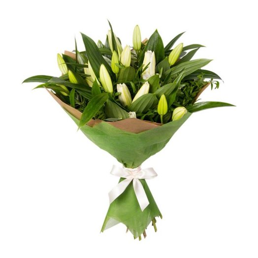 5 лилий : букеты цветов на заказ Flowwow