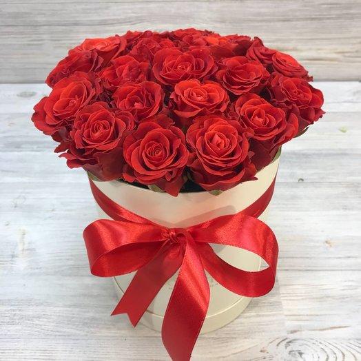 Коробки с цветами. Розы.