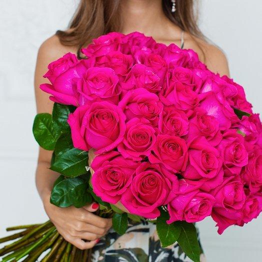51 розовая роза Pink Floyd: букеты цветов на заказ Flowwow