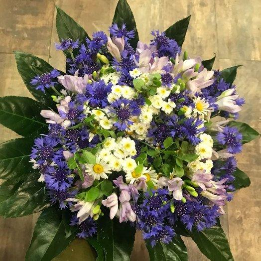 Васильковый рай: букеты цветов на заказ Flowwow
