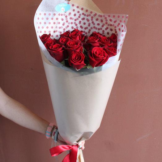 15 красных роз : букеты цветов на заказ Flowwow