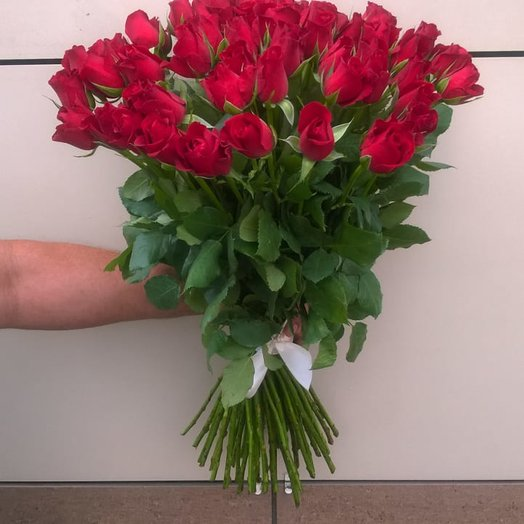 """""""Алая роза"""": букеты цветов на заказ Flowwow"""