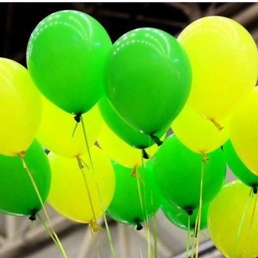 """Воздушные шары """"Утренняя свежесть"""" - 17 шт: букеты цветов на заказ Flowwow"""