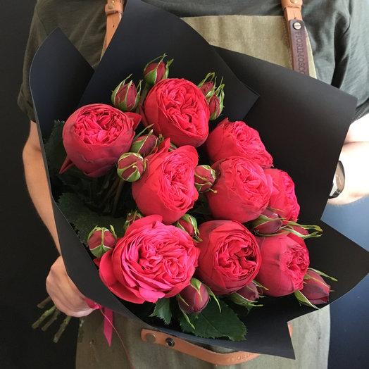 Букет пионовидных роз: букеты цветов на заказ Flowwow